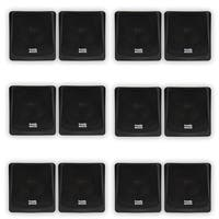 Acoustic Audio AA051B Mountable Indoor / Outdoor Speakers 6 Pair Pack AA051B-6PR