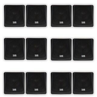 Acoustic Audio AA051B Mountable Indoor / Outdoor Speakers 6 Pair Pack AA051B-6PR