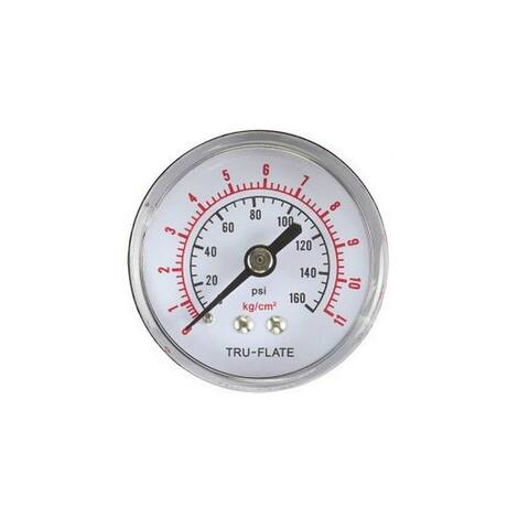 Forney 75565 Air Line Pressure Gauge With Rear Mount, 0-160 PSI