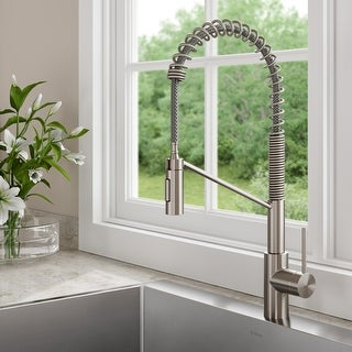 Link to Kraus KPF-2631 Oletto Commercial 2-Function Pulldown Kitchen Faucet Similar Items in Faucets