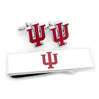 Indiana University Hoosiers Cufflink and Money Clip Gift Set - Red