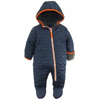 Wippette Baby Boys Star Quilted Jacket Puffer Winter Snowsuit Pram Bunting Suit