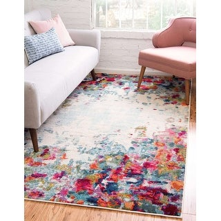 Link to Unique Loom Joyous Chromatic Area Rug Similar Items in Rugs