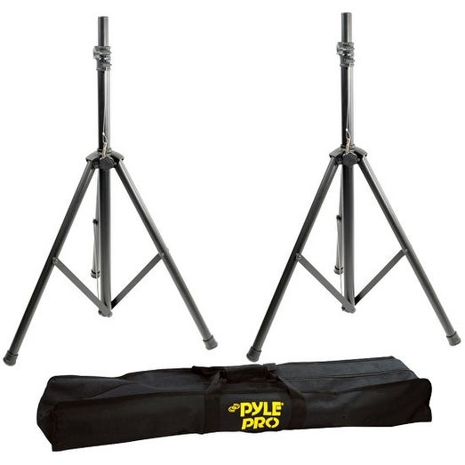 Dual Universal Speaker Stand Mount Holders, Height Adjustable to 8' Ft.