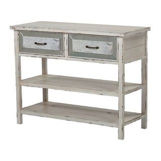 Sterling Industries 137-012 Sandall Console Table with Drawers and Shelf