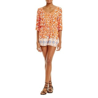 Minkpink Womens Romper Floral Print Casual