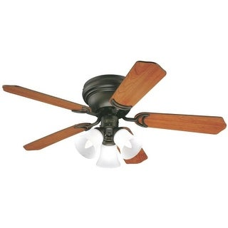 Westinghouse 7214900 Contempra Trio 3 Light 5 Blade Hugger Ceiling Fan with Reversible Motor, Reversible Blades and Light Kit