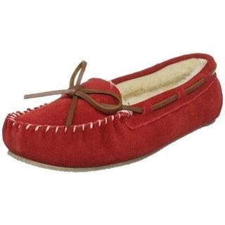 Tamarac Womens Molly Suede Faux Fur Moccasin Slippers - 8 medium (b,m)