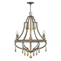 Fredrick Ramond FR42286 6-Light 1 Tier Chandelier from the Cordoba Collection - distressed iron
