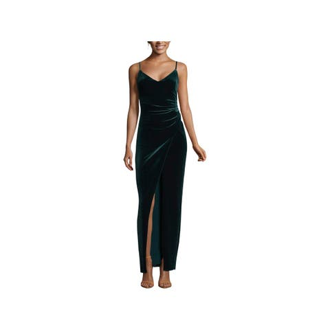 Betsy & Adam Womens Petites Evening Dress Formal Velvet