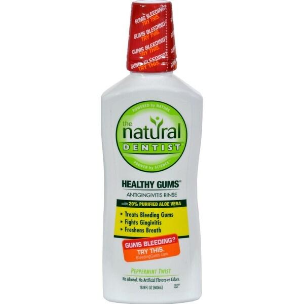Natural Dentist Healthy Gums Antigingivitis Rinse Peppermint Twist - 16.9 fl oz x 10