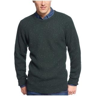 Weatherproof Vintage Shaker Sweater Small S Pine Green Crewneck Pullover
