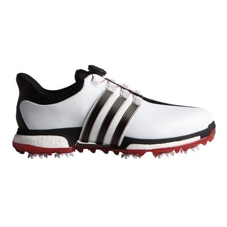 Adidas Men's Tour 360 BOA Boost White/Core Black/Power Red Golf Shoes F33449