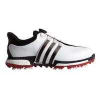 Adidas Men s Tour 360 BOA Boost White Core Black Power Red Golf Shoes F33449 ede127b0507