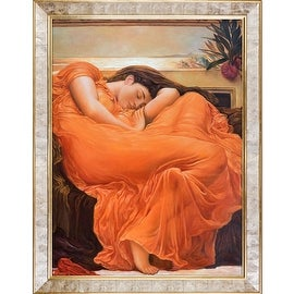 Flaming June by Lord Frederic Leighton Framed Hand Painted Oil on Canvas