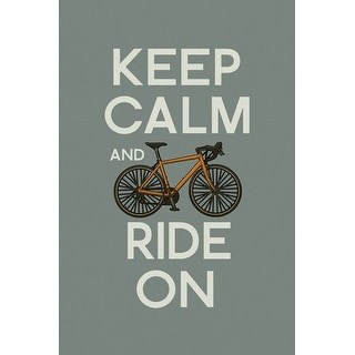 Keep Calm and Ride On - LP Artwork (Art Print - Multiple Sizes Available)