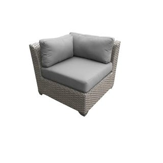 Miseno MPF-FLR055B-CS Northern Italy 29 Inch Tall Wicker Outdoor Corner Sofa (2 options available)
