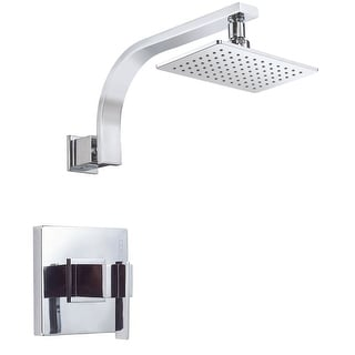 Danze D510544T  Pressure Balanced Shower Trim Package with Single Function Rain Shower Head From the Sirius Collection (Less