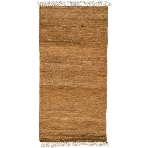 ECARPETGALLERY Hand-knotted Pak Finest Gabbeh Olive Wool Rug - 2'8 x 5'6