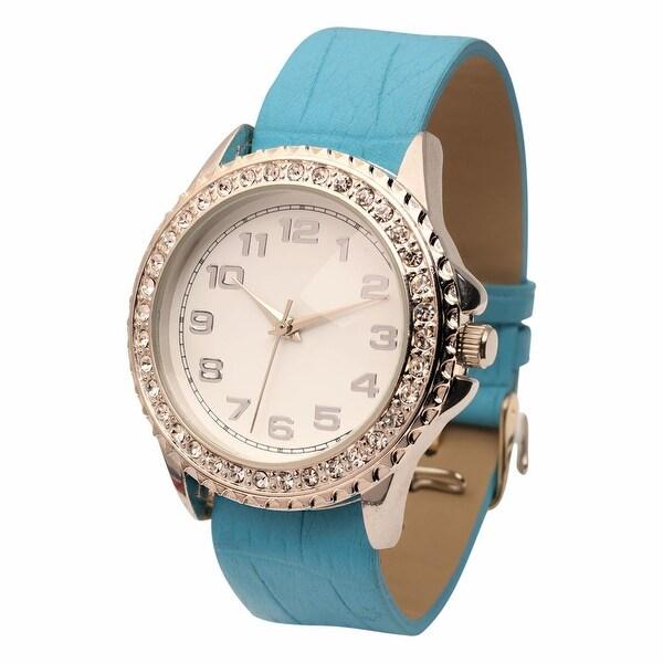 Women's Oversized Rhinestone Studded Watch Face