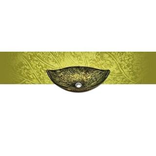 Polaris p346 Foil Undertone Leaf Glass Vessel Sink