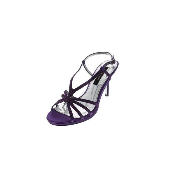 Nina Womens Bobbie Strappy Sandals Satin Jeweled