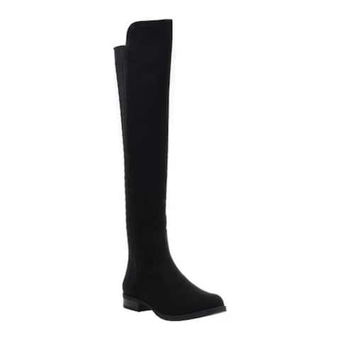 Madeline Women's Maple Over The Knee Boot Black Synthetic