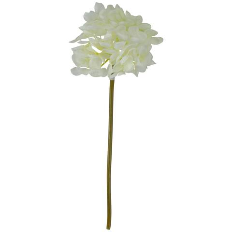 """11"""" Cream and Green Hydrangea Spring Floral Artificial Pick"""