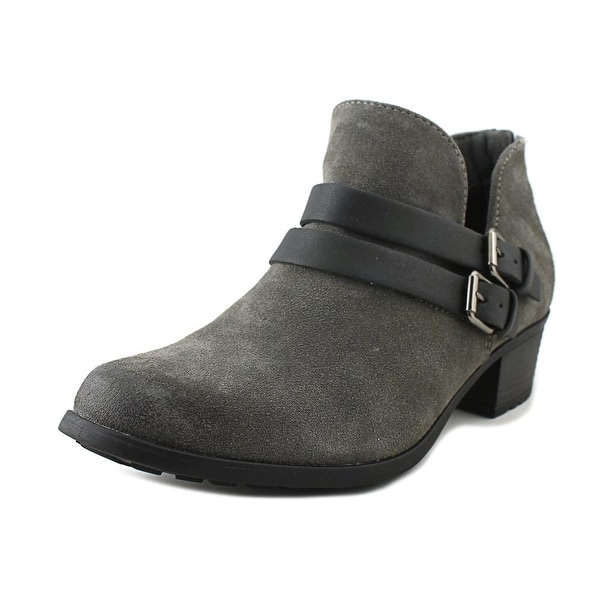 Earth Origins Destiny Women Round Toe Suede Gray Ankle Boot