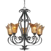Millennium Lighting 7125 Chatsworth 5-Light Single Tier Chandelier - Burnished Gold