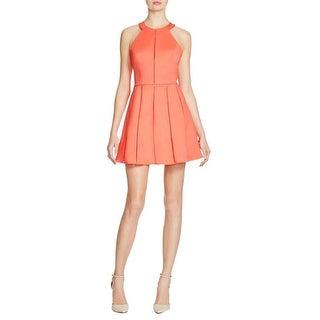 Parker Womens Casual Dress Contrast Trim Sleeveless