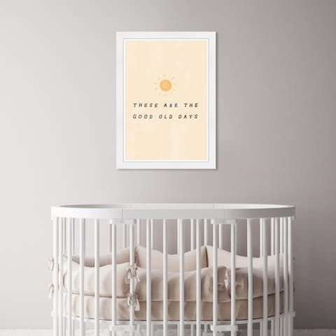 Olivia's Easel 'Good Old Days' Kids Wall Art Framed Print Orange, Gray