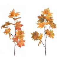 """Club Pack of 12 Vibrant Orange and Pale Red Decorative Fall Maple Leaf Spray 32""""H"""