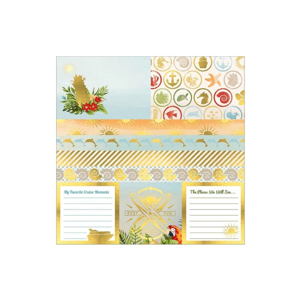 Bo Bunny Beach Therapy Paper 12x12 Vellum Foil