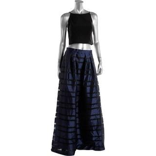Aidan Mattox Womens Sleeveless Prom Crop Top Dress - 10