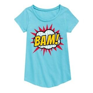 Bam - Youth Girl Short Sleeve Curved Hem Tee - aqua