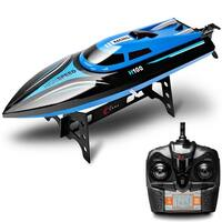 Costway H101 2.4G RC High Speed Racing Boat 180 degree Flip Radio Controlled Electric Toy Gift - Blue