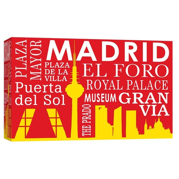 "PTM Images 9-102192 PTM Canvas Collection 8"" x 10"" - ""Madrid Sil"" Giclee Cityscapes Art Print on Canvas"