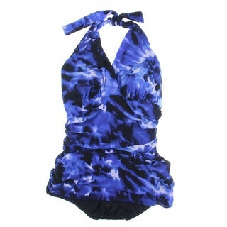 Magic Suit Womens Ruched Printed Swimdress