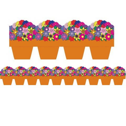 Hygloss flower pot die cut border 33636