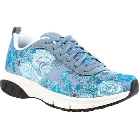 Therafit Women's Paloma Lace Up Blue Floral Fabric