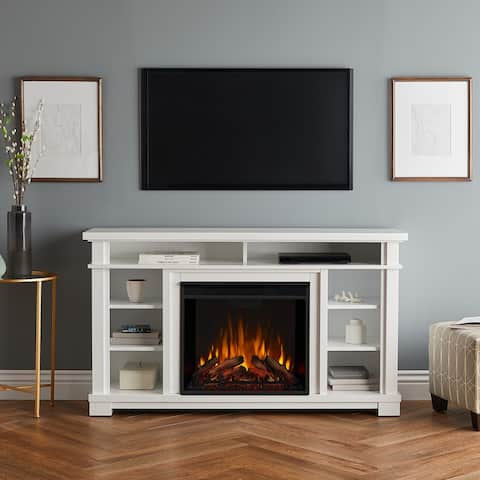 Belford Media Electric Fireplace in White