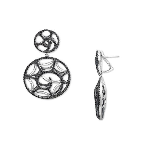 Evert DeGraeve 2 3/4 ct Black Spinel Swirl Earrings in Sterling Silver