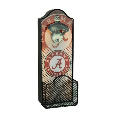 University of Alabama Crimson Tide LED Lighted Bottle Opener With Cap Catcher - 11 X 4 X 3 inches