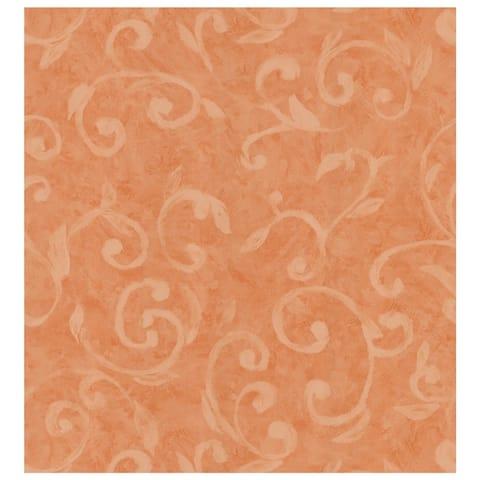 Scroll Dark Orange Wallpaper - 20.5in x 396in x 0.025in