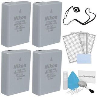Replacement EN-EL14A Rechargeable Li-Ion Batteries for the Nikon D3400 DSLR Camera System