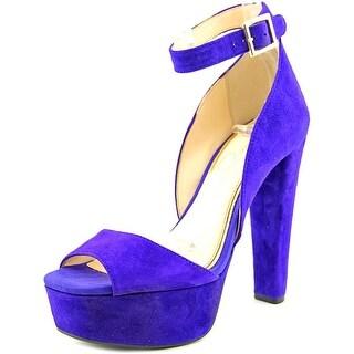 Jessica Simpson Athens Women Open Toe Suede Purple Platform Heel