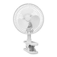 Lorell LLR44552 6in. Clip-On Fan- 2-Speed- 5ft. Cord- 7-.94in.x6in.x9-.50in.- Light Gray