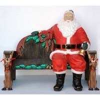 Christmas at Winterland WL-SANTA-SITTING 5 Foot Life Size Santa Sitting Down Indoor / Outdoor - MultiColor - N/A