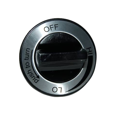 "2.25"" Black and Silver Plastic Control Knob for Charmglow Brand Gas Grills"